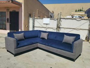 NEW 7X9FT BARCELONA NAVY FABRIC COMBO SECTIONAL COUCHES for Sale in Pomona, CA
