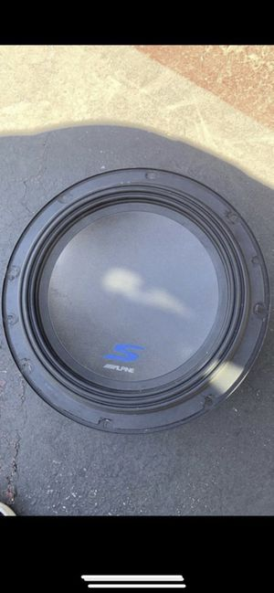 Alpine Car Subwoofer speaker S-W12D4 12 inches for Sale in Irvine, CA
