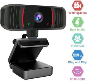 Webcam with Microphone for Desktop, 1080P HD Web Cameras for Computers with Plug and Play USB, Camera and Microphone for Zoom/Video Calling Recording for Sale in Pomona, CA