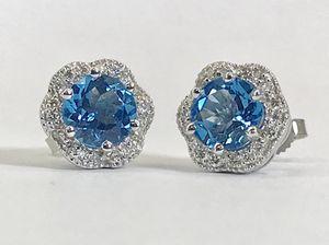 Women's earrings blue topaz for Sale in Boston, MA