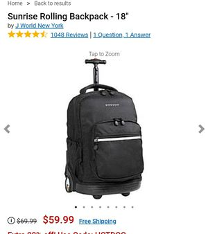 Laptop Rolling Backpack for Sale in Fremont, CA