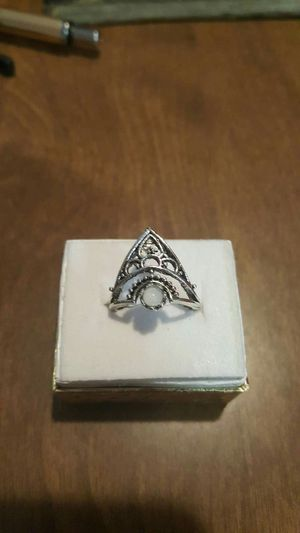 Silver Empress Rainbow Opal Crown Ring for Sale in Pawtucket, RI