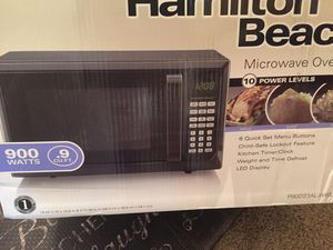 New Black Stainless Steel microwave oven .9 for Sale in Tolleson, AZ