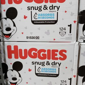 Huggies Snug Dry Size 1/124 Diapers for Sale in Gardena, CA