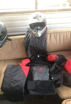 Motorcycle helmet and padding for Sale in Forest, VA