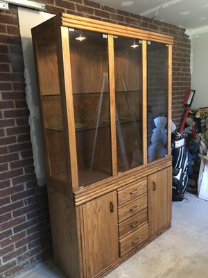 Oak china closet for Sale in West Mifflin, PA