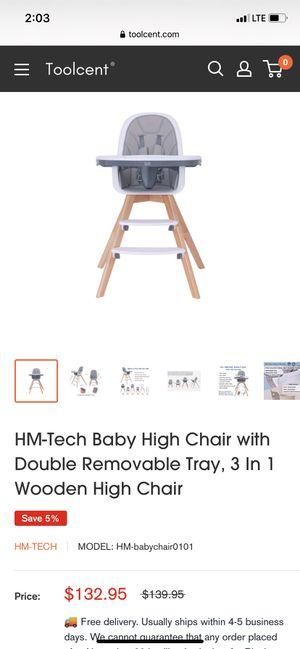 HT- tech high chair for Sale in Riverside, CA