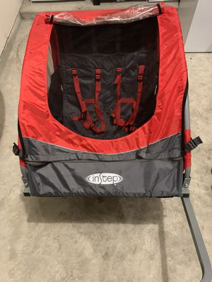Instep bike trailer for toddlers ,kids, single and double seat 2 in -1 canopy carrier for Sale in Richmond, TX
