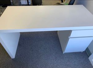"""Sturdy white/ offwhite desk 55 ish """" by 24"""". Might be 60. Have to measure for Sale in San Mateo, CA"""