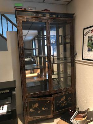 Black China cabinet for Sale in Herndon, VA