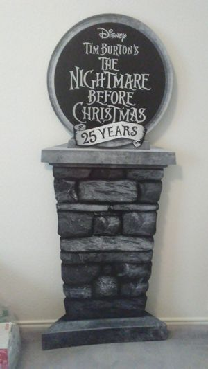 """NIGHTMARE BEFORE CHRISTMAS 25th ANNIVERSARY 4""""11 in.DISPLAY SIGN for Sale in Arlington, TX"""