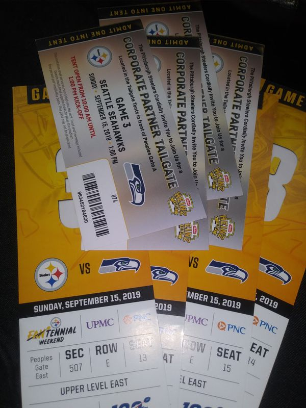 Steelers Tickets seahawks deal great seats