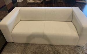 White leather couch / loveseat / sofa - 6 foot for Sale in Bedford, TX