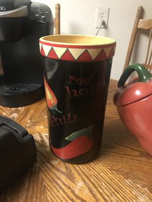 Cookie jar and utensil holder for Sale in Tampa, FL