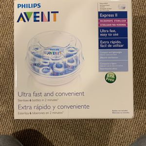 Philips Avent Microwave Steam Sterilizer for Baby Bottles, Pacifiers, Cups and More for Sale in Sterling Heights, MI