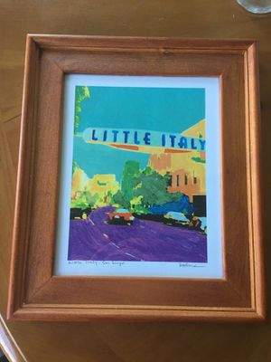 Little Italy Framed Art Print 11.5x13 for Sale in San Diego, CA