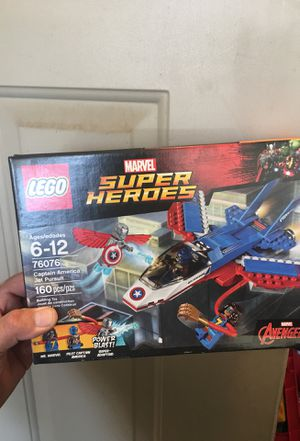 LEGO marvel super heroes 76076 captain America jet pursuit for Sale in Atwater, CA