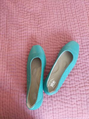 Turquoise SAS barely worn size 10 flats for Sale in Seattle, WA