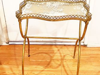 Gold & Glass Vintage Inspired Table for Sale in Los Angeles,  CA