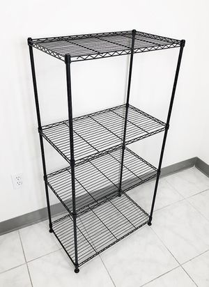 "(NEW) $35 Small Metal 4-Shelf Shelving Storage Unit Wire Organizer Rack Adjustable Height 24x14x48"" for Sale in Whittier, CA"