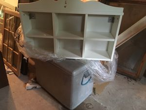 White Shelf with cubbyholes for Sale in Elysburg, PA
