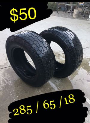 285/65/18 tires 50 both. Hankook for Sale in Ontario, CA