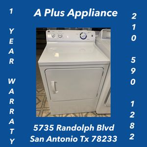 Ge Electric Dryer 1 Year Warranty for Sale in San Antonio, TX