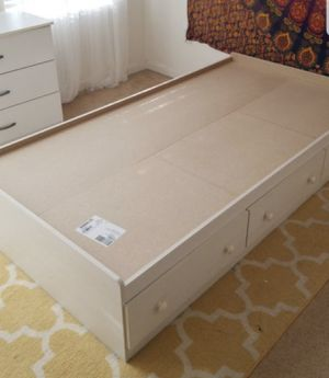 Twin size bed frame with drawers for Sale in Spring Valley, CA