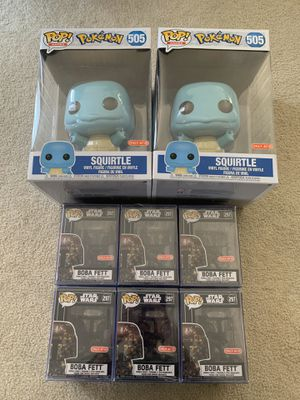 Huge funko pop lot! Boba fett and squirtle! Take everything pictured! for Sale in Daly City, CA