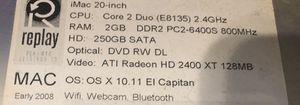 MAC 20 inch computer for Sale in Billings, MT