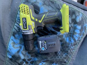 Ryobi 12 volt drill with battery No charger works good for Sale in Providence, RI