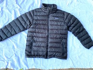Patagonia black buffer Jacket 10 youth for Sale in San Jose, CA