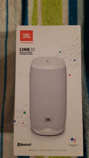 JBL LINK 10 voice-0activated portable speaker bluetooth price in store $210 selling $100 no less sorry for Sale in Gibbsboro, NJ