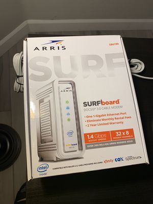 ARRIS SBG6700-AC EXCELLENT MODEM WORKS WITH AMOST ANY PROVIDER INCLUDING COX for Sale in Gilbert, AZ