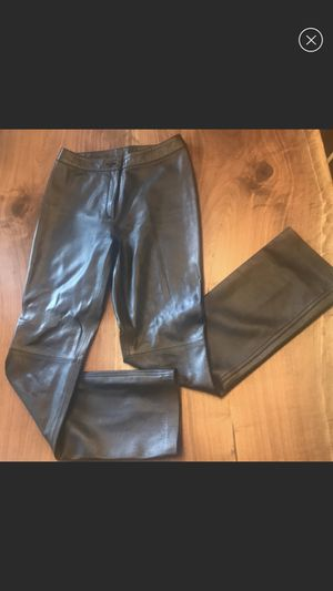 100% Black Leather Pants, size 4 for Sale in Shoreline, WA