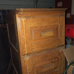 All Wood File Cabinet for Sale in San Bernardino, CA
