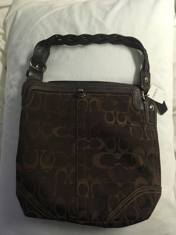 NWT coach chocolate Bag