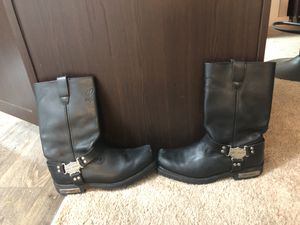 Harley Davidson boots size 10.5 fits normal size 8/8.5 shoe size for Sale in Charlotte, NC