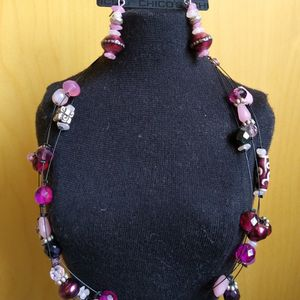 Chico's Floater Necklace and Matching Earrings for Sale in Issaquah, WA