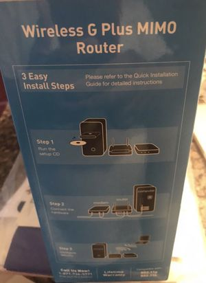 Wireless G Plus Router Mimo for Sale in Cambridge, MA