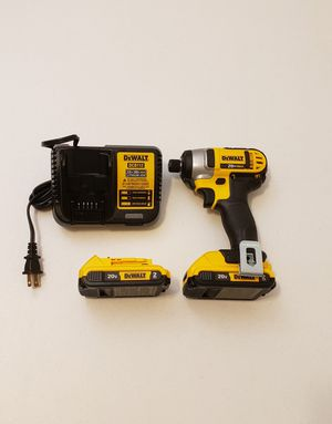 New impact Drill Dewalt whit (2) Batteries 2.0AH and Charger FIRM PRICE for Sale in Woodbridge, VA