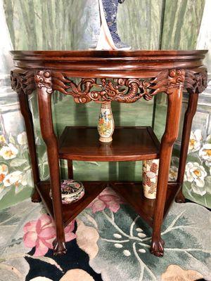 Oriental Carved Marble Table Demi Lune Half Moon Table for Sale in Boynton Beach, FL