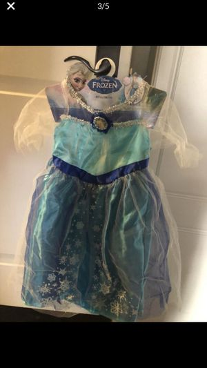 Brand new Frozen Elsa dress up costume wit bag & blinking wand for Sale in San Gabriel, CA