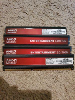 AMD Memory Entertainment Edition 16GB DDR3 1333 (PC3 10600) 240-Pin, SDRAM - AE34G1339U2 for Sale in Orlando, FL