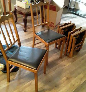 Leg o matic folding chairs for Sale in Spanaway, WA
