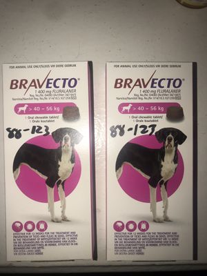 Bravecto 88-123lbs X Large Dog (pink) flea/tick/mites for Sale in Los Angeles, CA