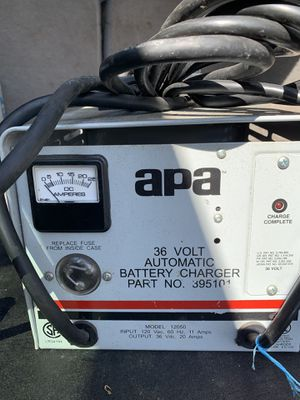 APA 36volt/20amp automatic battery charger floor scrubber for Sale in Burbank, IL