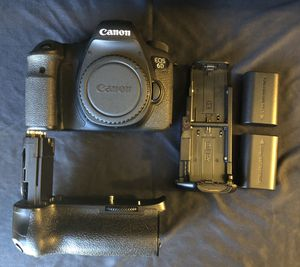 Canon 6D body + extras for Sale in Gainesville, VA