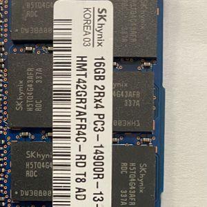 Hynix (4 X 16) 64GB 2RX4 PC3-14900R-13-13-E2 ECC REGISTERED DDR3 for Sale in Long Beach, CA