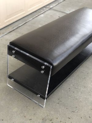 Brand new acrylic frame bench. Retails for over $340 for Sale in Fowler, CA